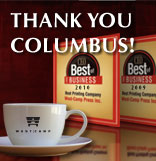 Voted Best Printing Company in Columbus 2009 & 2010!